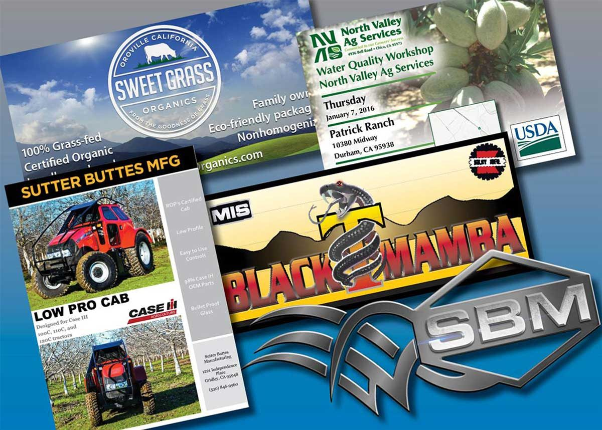 farm equipment logos and promotional materials