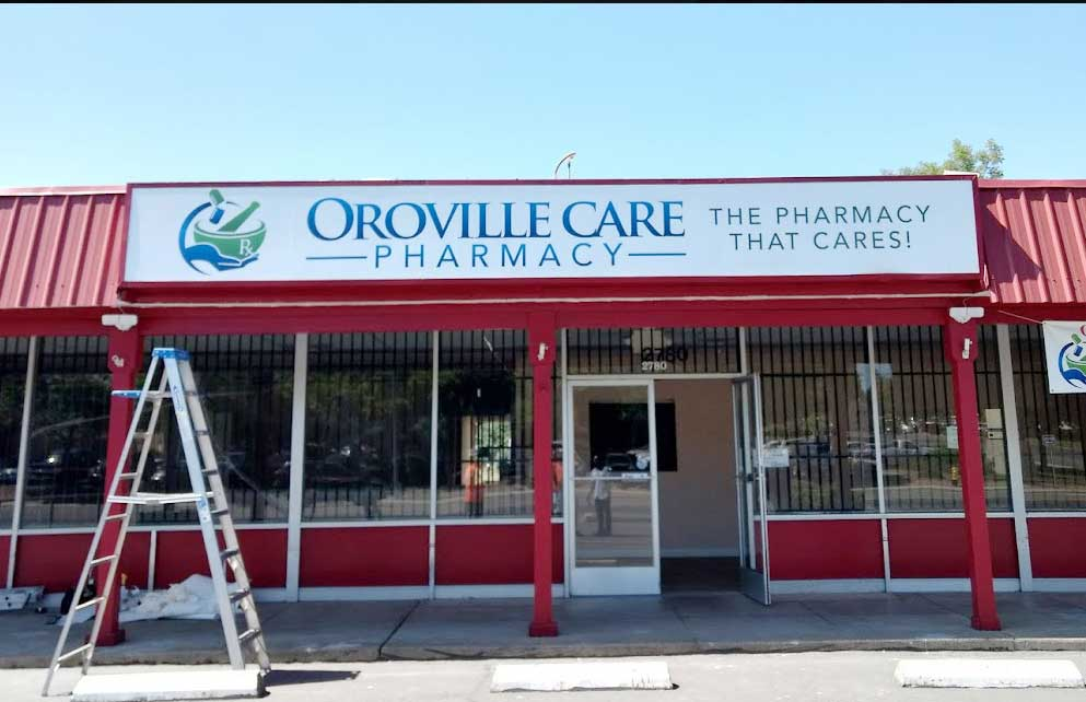 oroville pharmacy sign made by creative composition chico ca