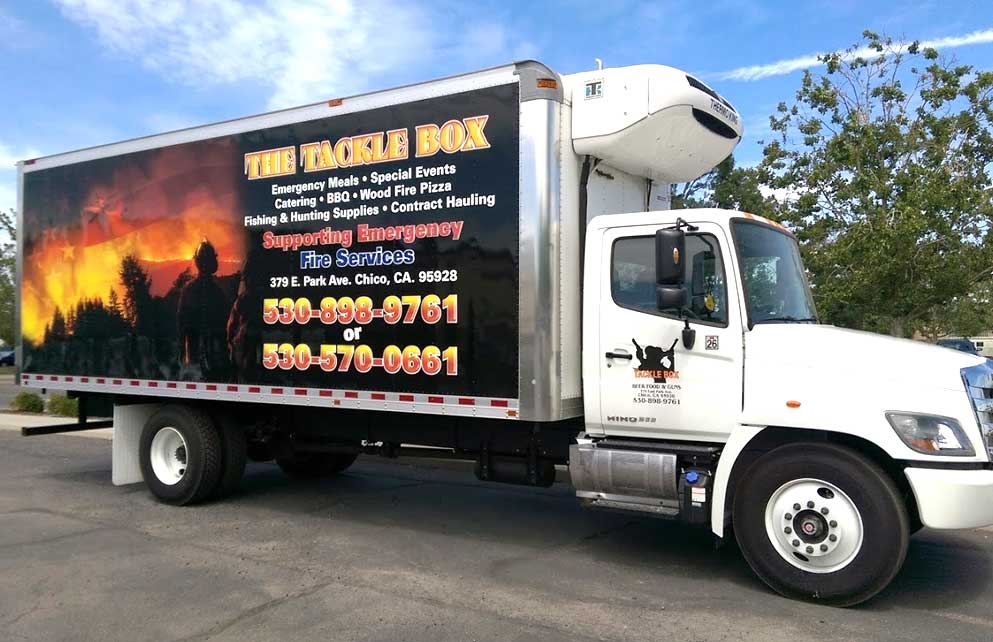truck wrap tackle box bar chico ca
