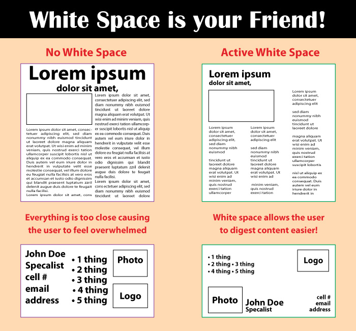 Using White Space