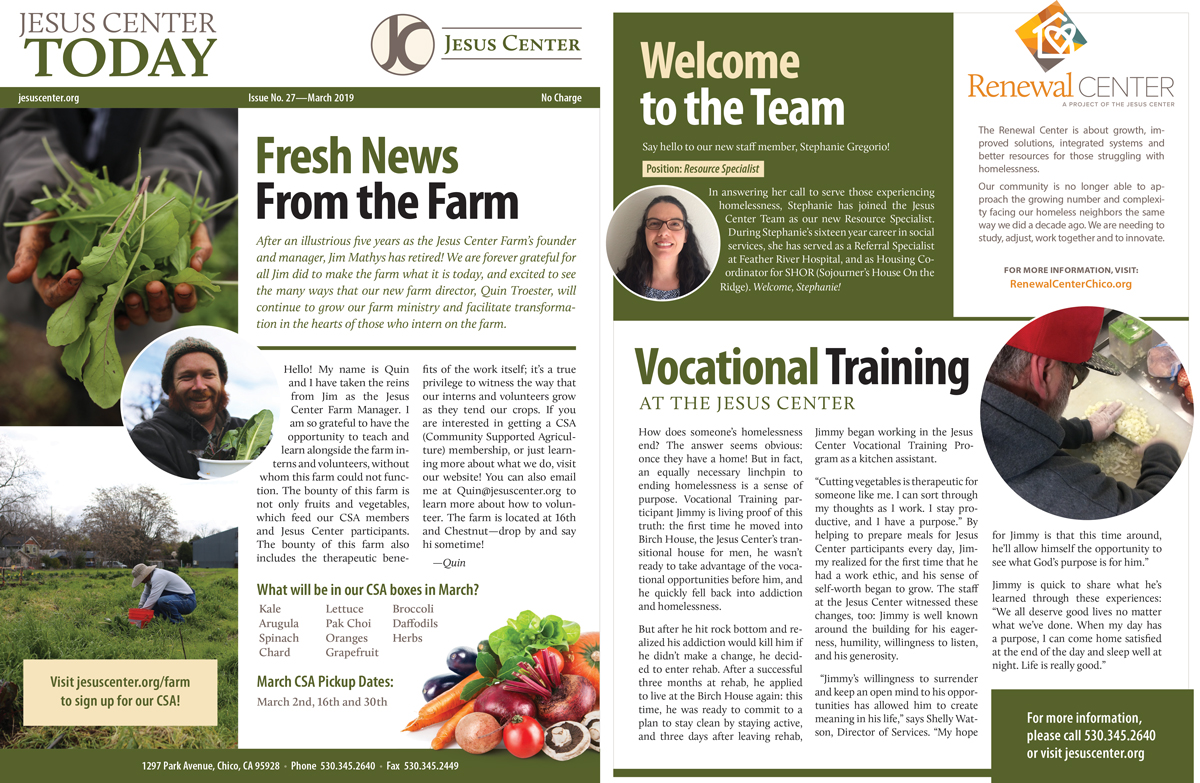 Newsletter Jesus Center CC