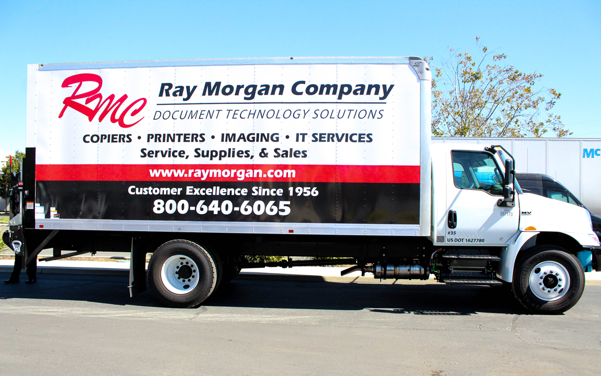 Ray Morgan Vehicle Wrap